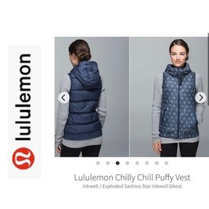 LuLuLemon Chilly Chill Puffy Vest. Size 8. Navy